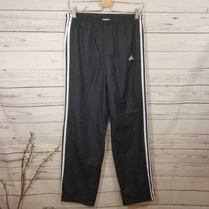 Adidas Classic 3 Stripe Swishy Pants Zip Ankle